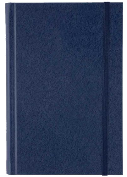 Agenda 11x16.5cm,nedatata,Time,320p,ivoire,velin,albastru