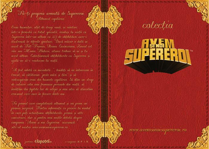 zzAlbum colectionare stikere SuperEroi