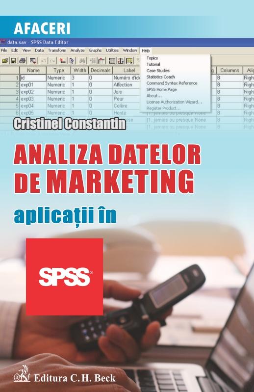 ANALIZA DATELOR DE MARKETING APLICATII