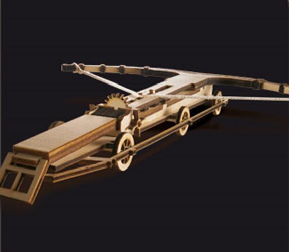 Arbaleta lemn Leonardo da Vinci