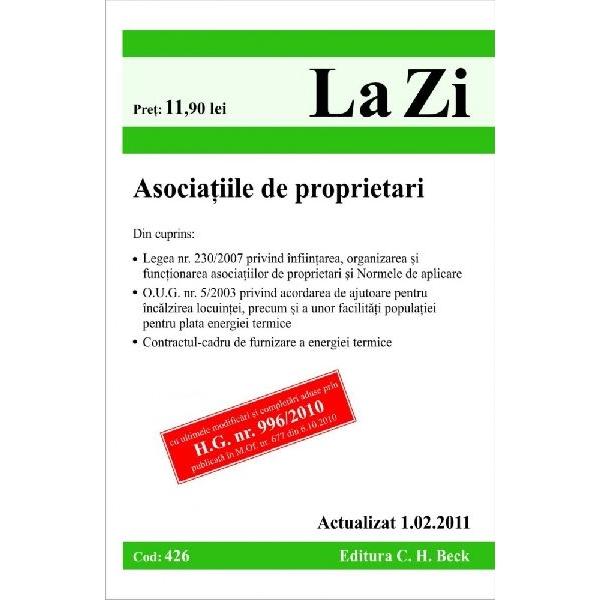 ASOCIATIILE DE PROPRIET ARI ( COD 426) ACTUALIZ