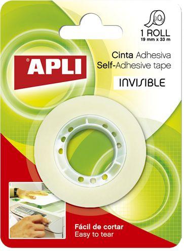 Banda adeziva 19mmx33m,Apli,Invisible,bls