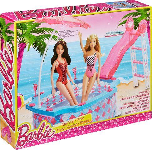Barbie-piscina,set