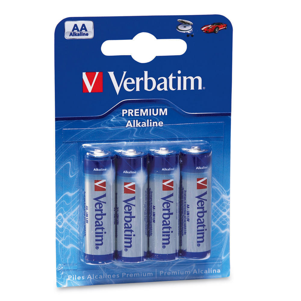Bateire alcalina Verbatim AA 4 buc
