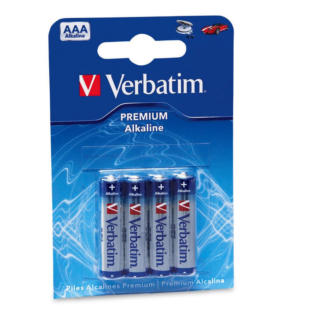 Bateire alcalina Verbatim AAA 4 buc