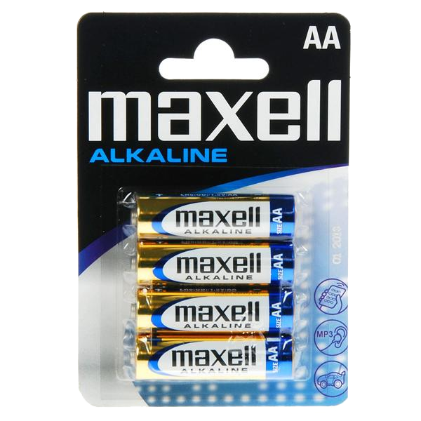 Baterii alcaline AA (4buc.), Maxell