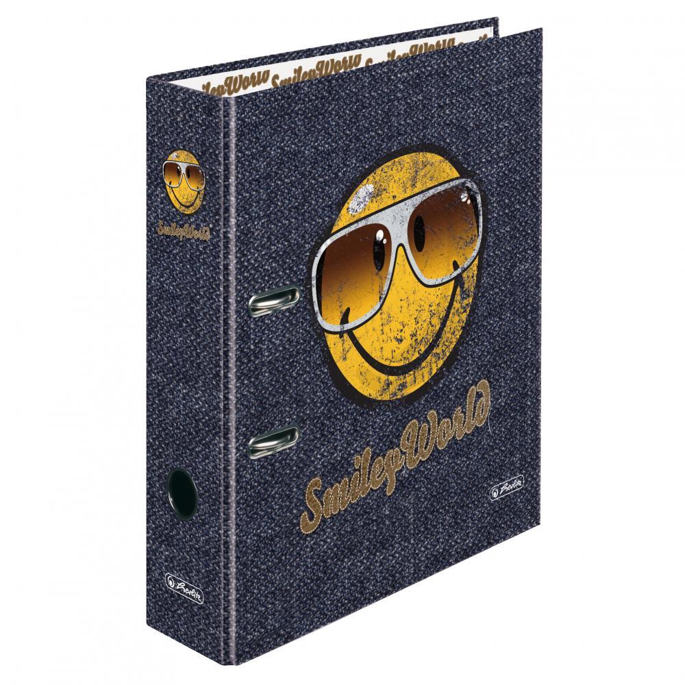 Biblioraft A4 ,8cm,SmileyWorld Jeans