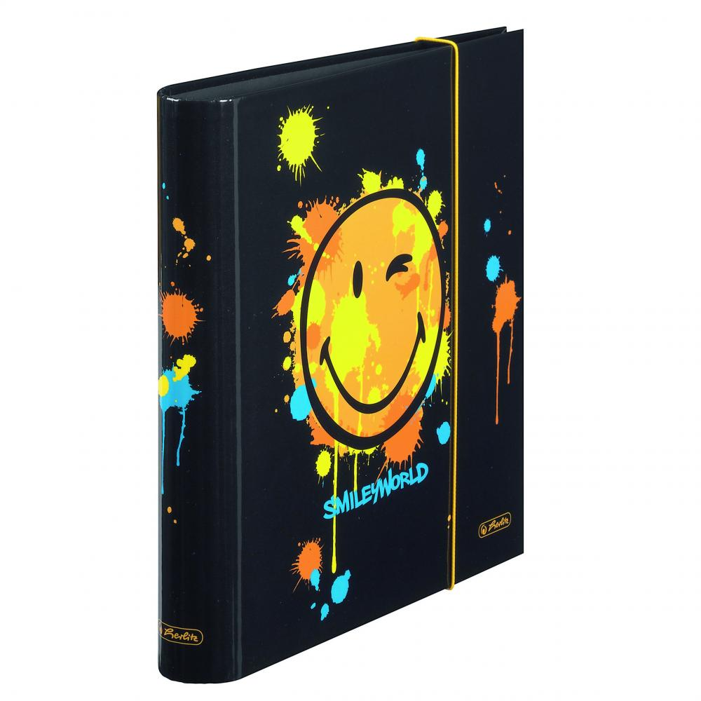 Biblioraft A4,5 cm,SmileyWorld Black