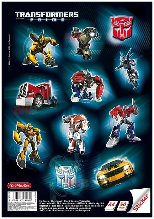 Bloc desen A4 cu stickere Transformers