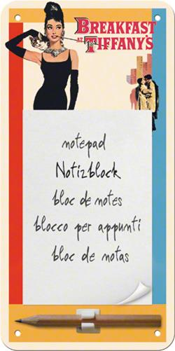 CARNET NOTITE MAGNETIC BREAKFAST AT TIFFANYS