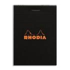 zzBlocnotes 14.8x14.8c m,Rhodia black,80f,mat