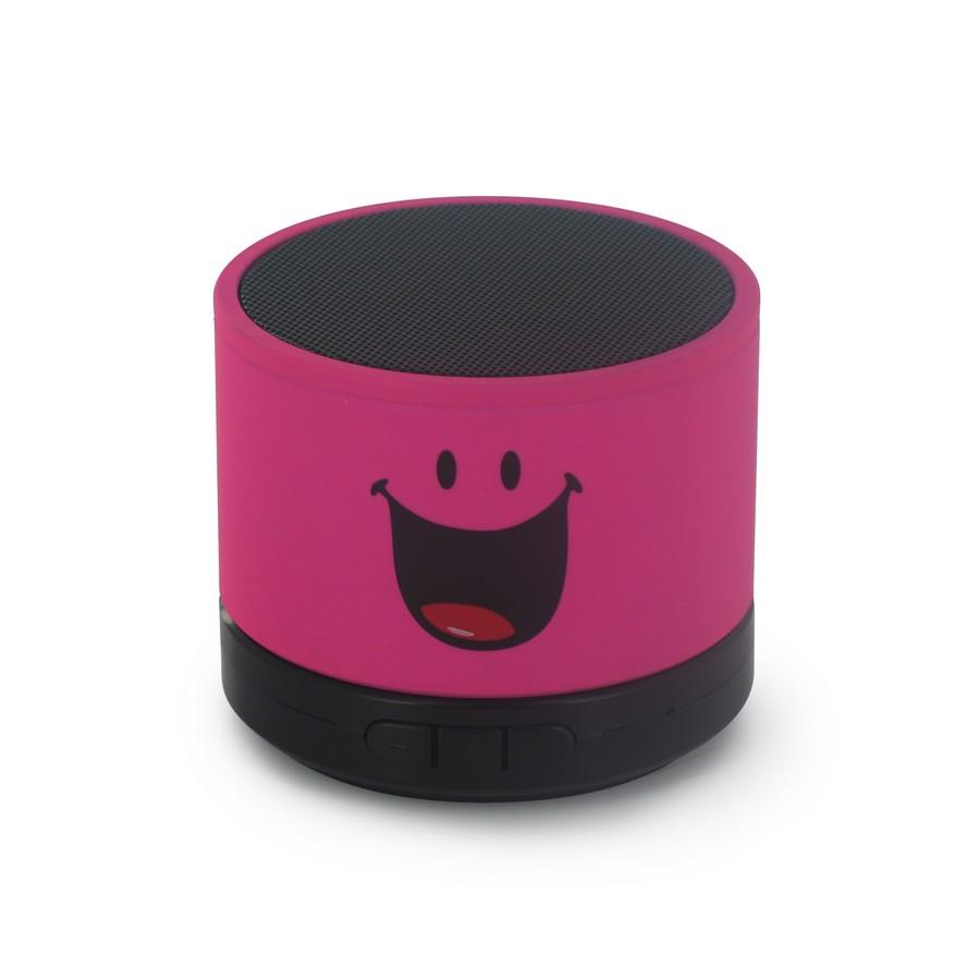 Boxa portabila Smiley World,roz