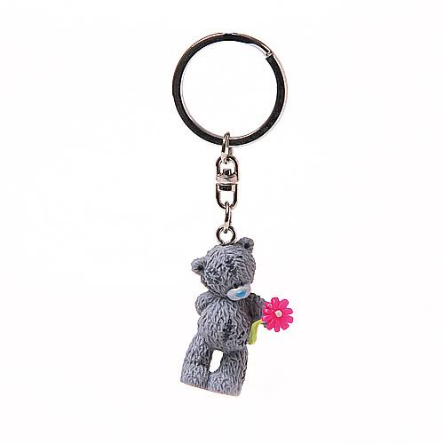 Breloc MTY Urs cu floare,PVC