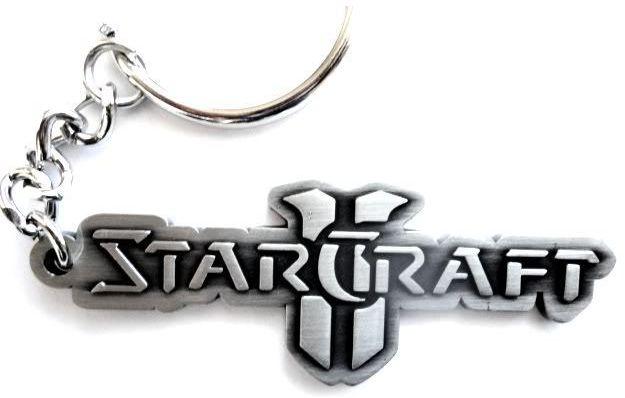 Starcraft II - Metal Keychain Logo
