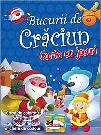 BUCURII DE CRACIUN (CARTE DE COLORAT SI ACTIVITATI CU AUTOCOLANTE)