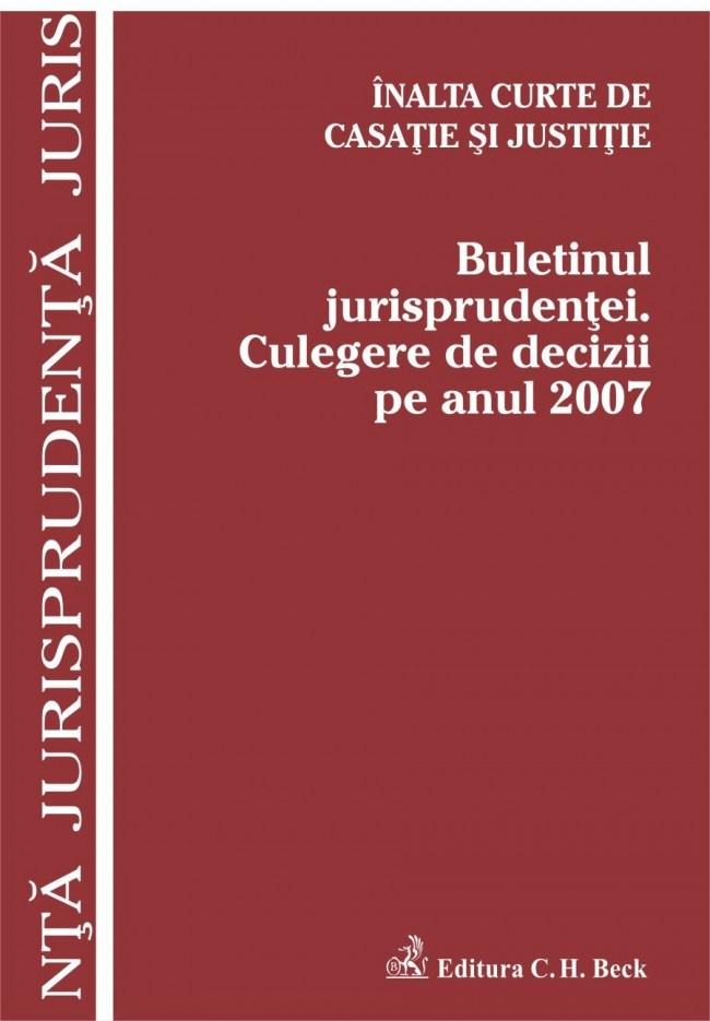 BULETINUL JURISPRUDENTE I. CULEGERE DE DECIZII