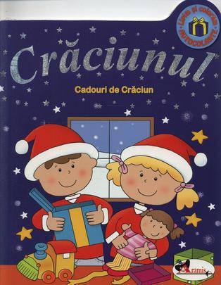 """CADOURI DE CRACIUN - SERIA """"CRACIUNUL"""" (CARTE DE COLORAT, CU AUTOCOLANTE)"""