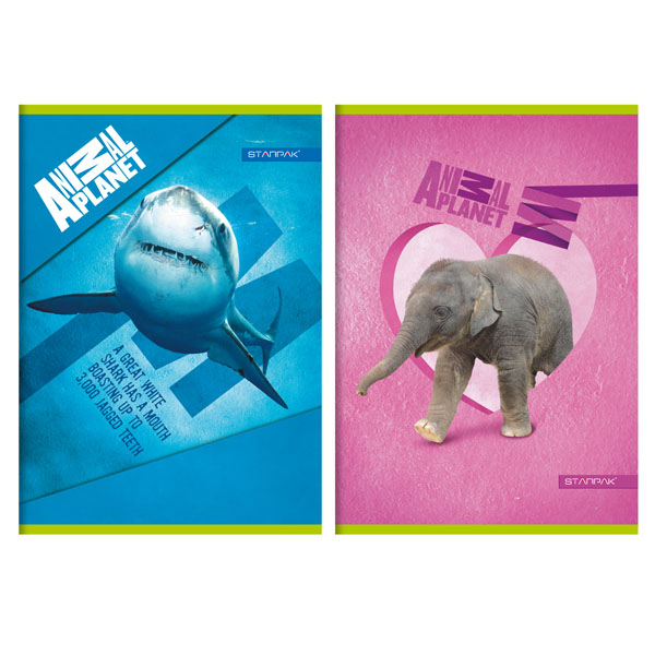 Caiet A5,16file,dict,Animal Planet