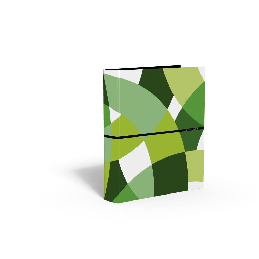 zzCaiet mec.,4 inele,QuattroColori+,verde
