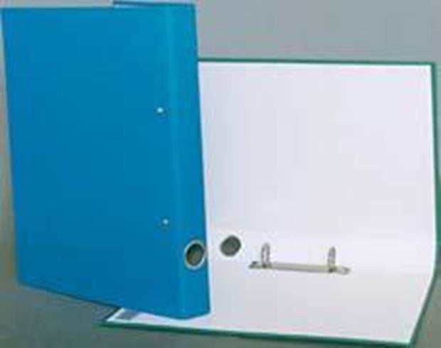Caiet mecanic A4,25mm 4 inele, albastru