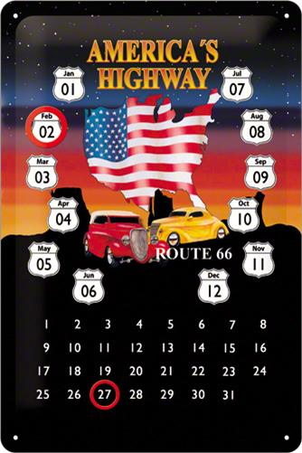 CALENDAR 20X30 ROUTE 66 AMERICA'S HIGHWAY