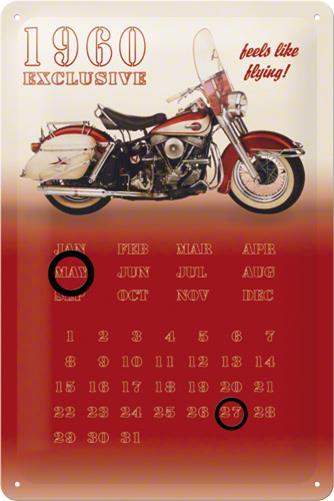 CALENDAR 20X30 MOTORRAD 1960