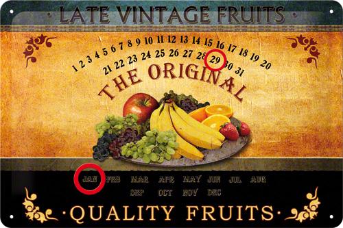 CALENDAR 20X30 FRUITS