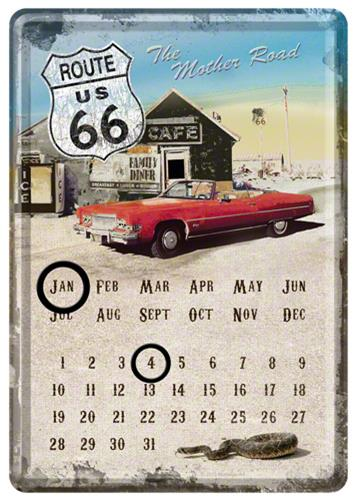 CALENDAR DE BIROU ROUTE 66 MOTHER ROAD