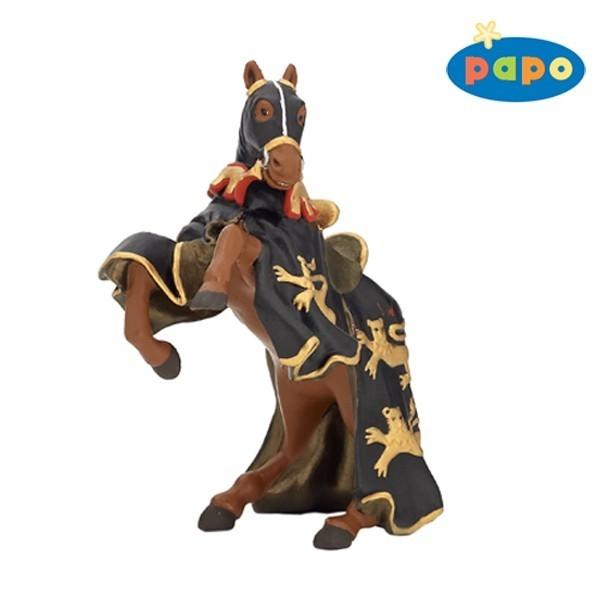 Calul Regelui Richard cu lance, negru-auriu