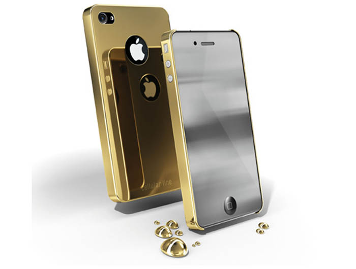 Carcasa iPhone Cellular Line Chrome Gold