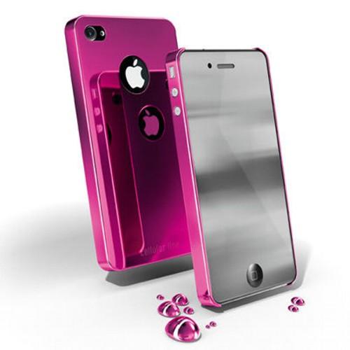 Carcasa iPhone Cellular Line Chrome Pink