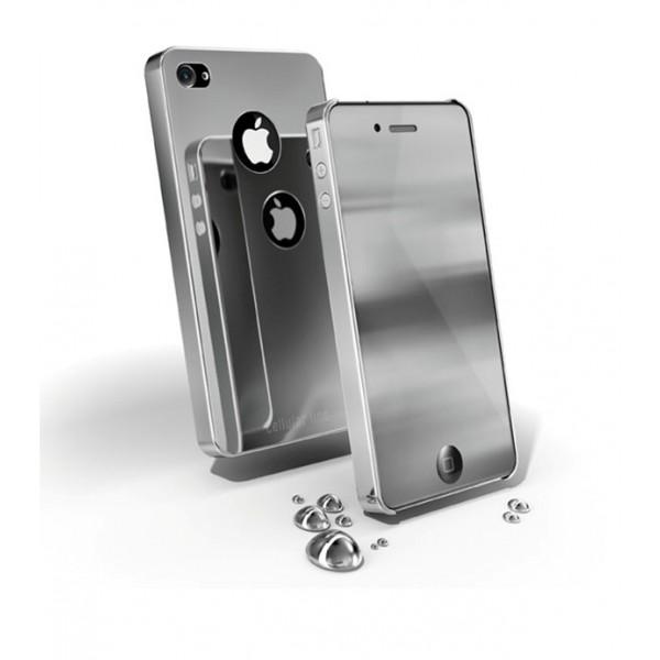 Carcasa iPhone Cellular Line Chrome Silv