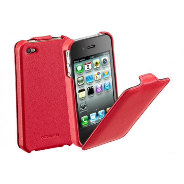 Carcasa iPhone Cellular Line Flap Red
