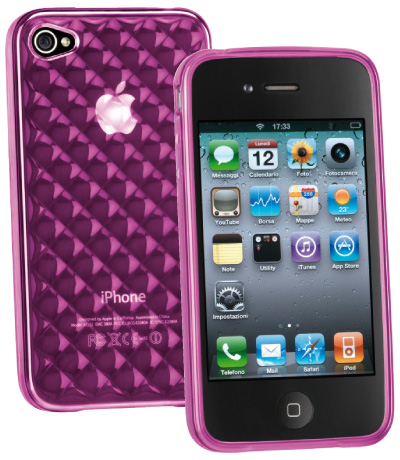 Carcasa iPhone Cellular Line Glam Pink