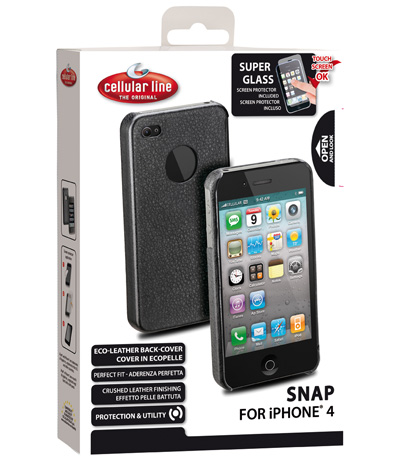 Carcasa iPhone Cellular Line Snap Black