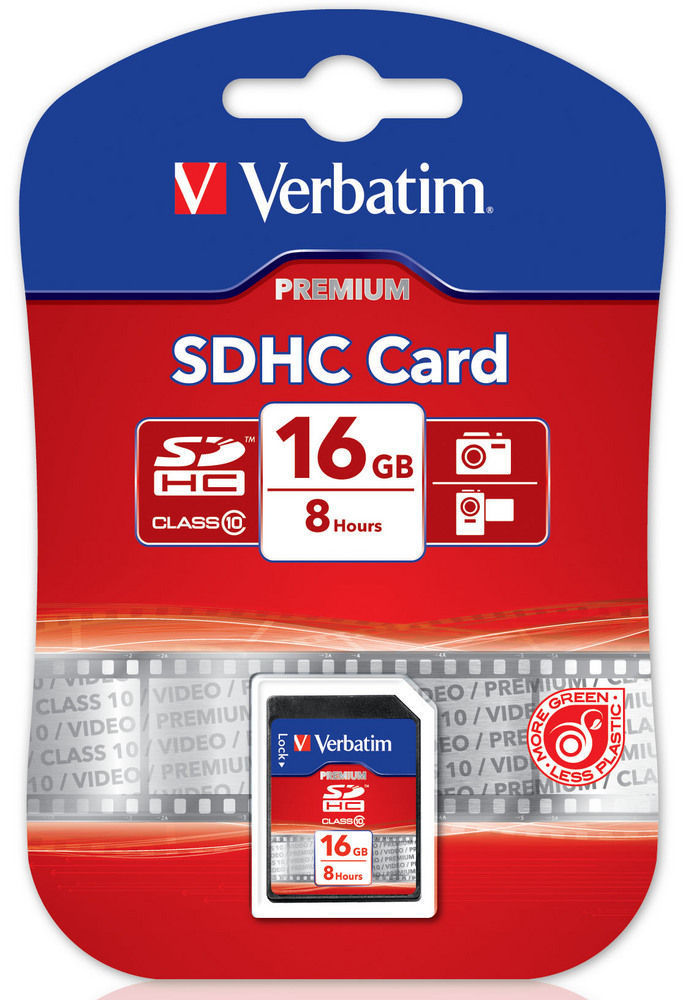 Card SDHC Verbatim 16GB Class 10