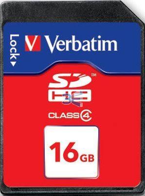 Card SDHC Verbatim 16GB Class 4
