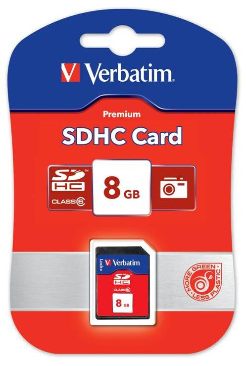 Card SDHC Verbatim 8GB Class 6