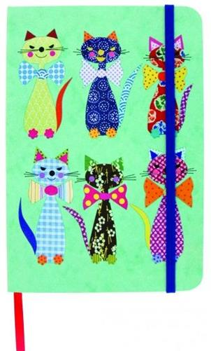 Carnet cu elastic Cats in Bowties