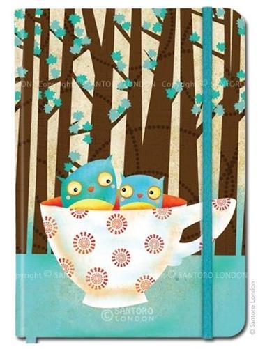 Carnet cu elastic Cup of Owls