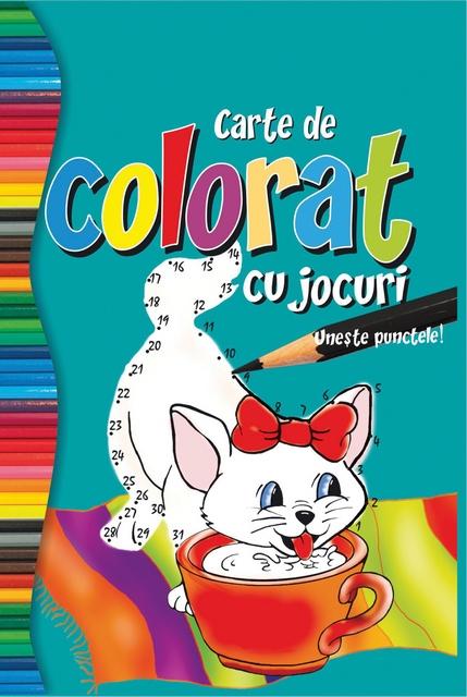 CARTE COLORAT CU JOCURI/COLORAT 80