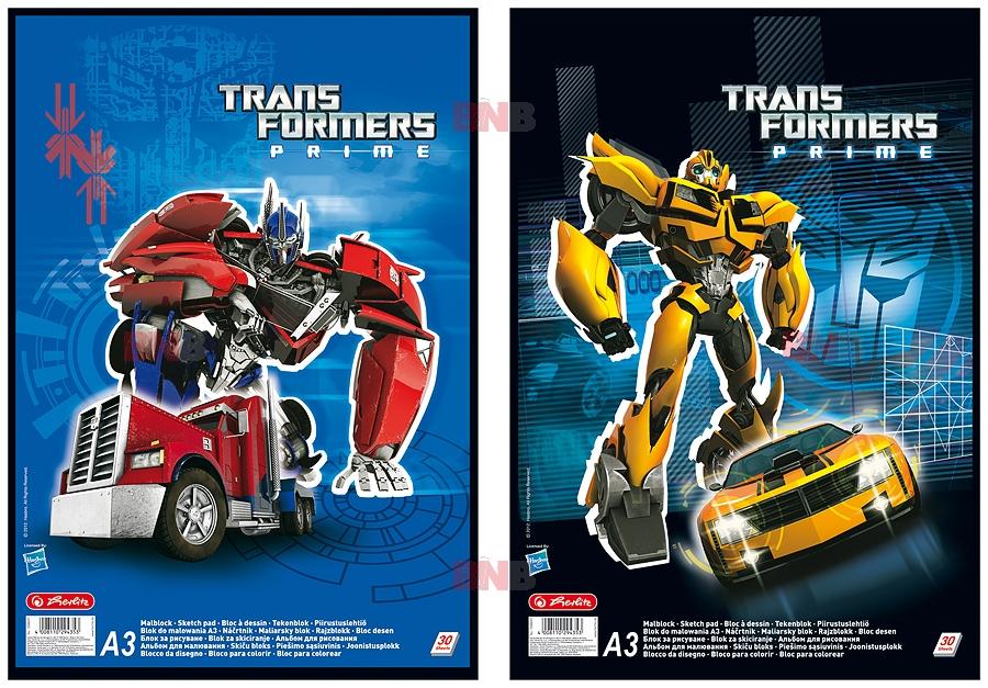 Carte de colorat A3 Transformers,30file