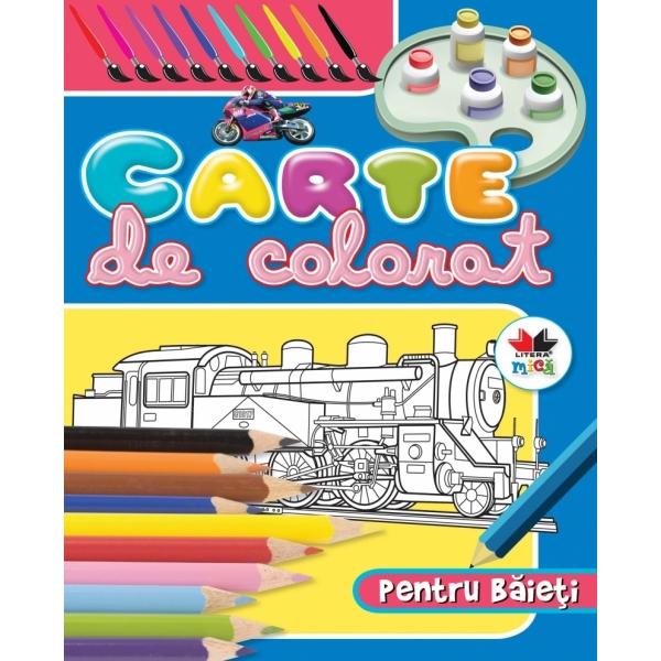 CARTE DE COLORAT PENTRU BAIETI ALBASTRA