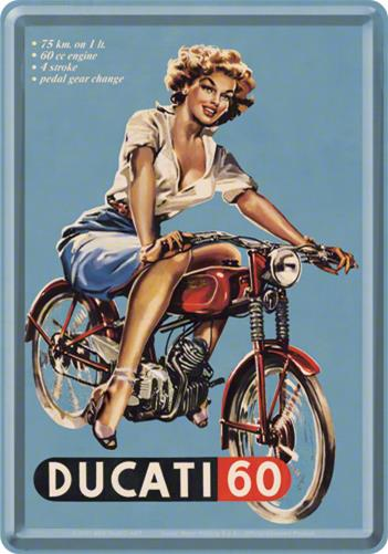 CARTE POSTALA DUCATI PIN UP