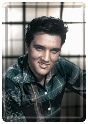 CARTE POSTALA ELVIS IN COLOR