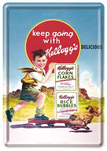 CARTE POSTALA KELLOGG'S KEEP GOING