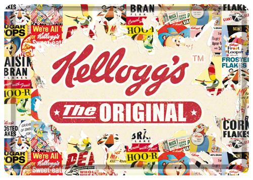 CARTE POSTALA KELLOGG'S THE ORIGINAL COLLAGE