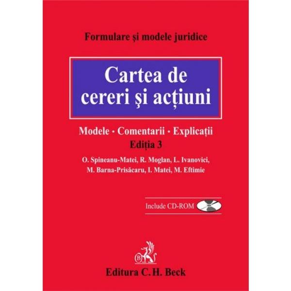 CARTEA DE CERERI SI ACT IUNI. MODELE. COMENTARI