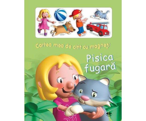 CARTEA MEA DE CITIT CU MAGNETI PISICA FUGARA