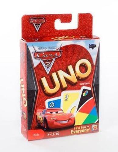 Carti de joc Uno, Cars 2